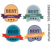 set of badges with ribbons  and ... | Shutterstock . vector #503680882