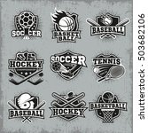 sports and competitions logos... | Shutterstock .eps vector #503682106