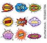 comic sound effects set with... | Shutterstock .eps vector #503683786