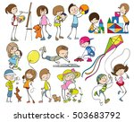 flat isolated images of... | Shutterstock .eps vector #503683792