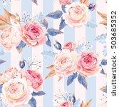 seamless vintage roses   Shutterstock .eps vector #503685352