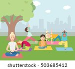illustration of kids with... | Shutterstock .eps vector #503685412