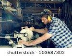 carpenter craftman lumber... | Shutterstock . vector #503687302