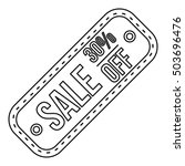 sale tag 30 percent off icon in ... | Shutterstock . vector #503696476