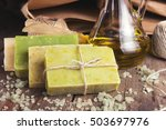 collection of handmade  natural ... | Shutterstock . vector #503697976