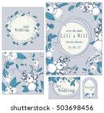 set of templates for... | Shutterstock .eps vector #503698456