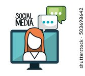 social media concept flat icons | Shutterstock .eps vector #503698642