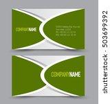 business card set template for... | Shutterstock .eps vector #503699392