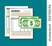 invoice document flat isolated... | Shutterstock .eps vector #503700196