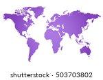 world map illustration | Shutterstock .eps vector #503703802