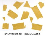 pieces of adhesive tape | Shutterstock . vector #503706355