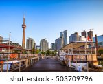 sunrise at downtown toronto ... | Shutterstock . vector #503709796