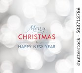 merry christmas and happy new... | Shutterstock .eps vector #503713786