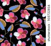 creative universal floral... | Shutterstock . vector #503722816