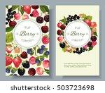 vector mix berry vertical... | Shutterstock .eps vector #503723698
