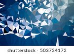 abstract low poly background ... | Shutterstock . vector #503724172