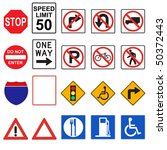 three dimensional road signs ... | Shutterstock . vector #50372443