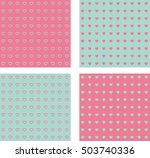 seamless blue and pink set of... | Shutterstock .eps vector #503740336