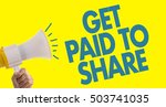 get paid to share   Shutterstock . vector #503741035