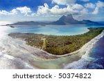 aerial view of bora bora in the ...   Shutterstock . vector #50374822