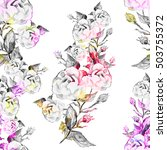 watercolor seamless pattern ... | Shutterstock . vector #503755372