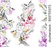 watercolor seamless pattern ... | Shutterstock . vector #503755372