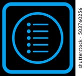 items blue vector icon. image...