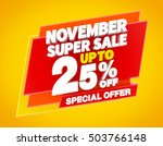 november super sale up to 25  ... | Shutterstock . vector #503766148