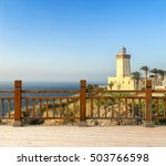 lighthouse at the cape spartel... | Shutterstock . vector #503766598