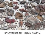 ancient mexican stone wall at... | Shutterstock . vector #503776342
