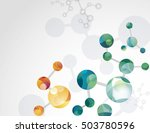 molecular cell structure... | Shutterstock .eps vector #503780596