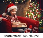 merry christmas and happy... | Shutterstock . vector #503783692