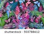 Watercolor Tropical Flowers ...