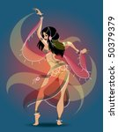 exotic belly dancer | Shutterstock .eps vector #50379379