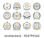 outline vector beer emblems ... | Shutterstock .eps vector #503794162