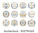 outline vector beer emblems ... | Shutterstock .eps vector #503794165