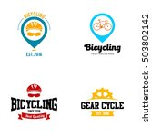 bicycle logo  cycling theme logo | Shutterstock .eps vector #503802142