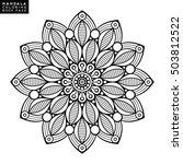 flower mandala. vintage... | Shutterstock .eps vector #503812522