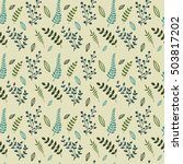 floral vector seamless pattern. ...   Shutterstock .eps vector #503817202
