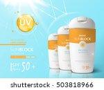 sunblock ads template  sun... | Shutterstock .eps vector #503818966