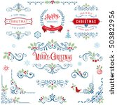 ornate christmas frames and... | Shutterstock .eps vector #503822956