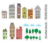 houses  building  trees  vector ... | Shutterstock .eps vector #503825026