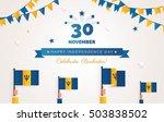 30 november.barbados... | Shutterstock .eps vector #503838502