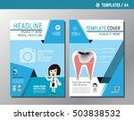 health flyer leaflet brochure... | Shutterstock .eps vector #503838532