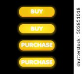 set of yellow buttons with buy...