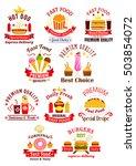 fast food emblems. cheeseburger ... | Shutterstock .eps vector #503854072