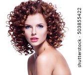 profile portrait of beautiful... | Shutterstock . vector #503855422