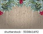 vintage christmas background  ... | Shutterstock . vector #503861692