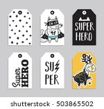 vector party badge design.... | Shutterstock .eps vector #503865502