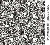seamless pattern with image of... | Shutterstock .eps vector #503867302